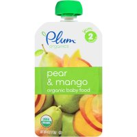Plum Organics Baby Food Stage 2 Pear Mango 4oz Pouch product image