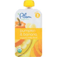 Plum Organics Baby Food Stage 2 Pumpkin & Banana 4oz Pouch product image