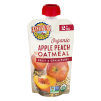 Earth's Best Organic Apple Peach Oatmeal Fruit & Grain Puree 4.2oz Pouch product image