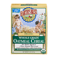 Earth's Best Cereal Oatmeal Whole Grain Organic 8oz Box product image