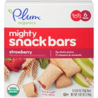 Plum Organics Tots Mighty Snack Bars Strawberry 6CT 4.02oz  Box product image