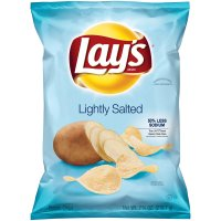 Lay's Potato Chips Lightly Salted 50% Less Sodium 7.75oz Bag product image