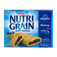 Kellogg's Nutri-Grain Cereal Bars Blueberry 8CT 10.4oz Box product image