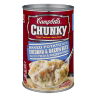 Campbell's Chunky Soup Baked Potato Cheddar & Bacon Bits 18.8oz. Can product image