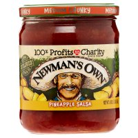 Newman's Own All-Natural Pineapple Salsa Chunky Medium 16oz Jar product image