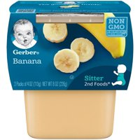Gerber 2nd Foods Bananas 4oz 2PK product image