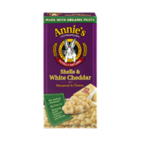 Annie's Homegrown Shells & White Cheddar Cheese 6oz Box product image