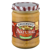 Smucker's Natural Peanut Butter Chunky 16oz Jar product image