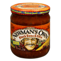 Newman's Own All-Natural Salsa Black Bean & Corn 16oz Jar product image