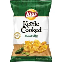 Lay's Kettle Cooked Chips Jalapeno 8oz Bag product image
