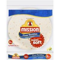 Mission Flour Tortillas Large Size 8CT 20oz PKG product image