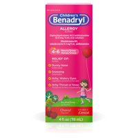 Benadryl Children's Allergy Relief Cherry Flavored Liquid 4oz BTL product image