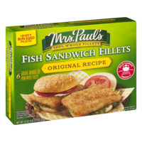 Mrs. Paul's Fish Sandwich Fillets Original Recipe 6CT 18oz Box product image