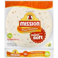 Mission Flour Tortillas Medium/Soft Taco Size 10CT 17.5oz PKG product image