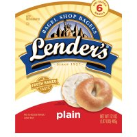 Lender's Premium Refrigerated Bagels Plain 6CT 17.1oz Bag product image