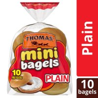 Thomas' Mini Bagels Plain 10CT 15oz PKG product image