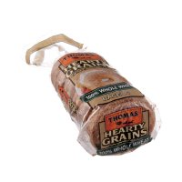 Thomas' Bagels Hearty Grains 100% Whole Wheat 6CT 20oz PKG product image