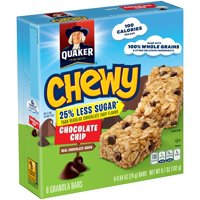 Quaker Chewy Granola Bar 25% Less Sugar Chocolate Chip 8CT PKG product image