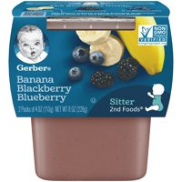 Gerber 2nd Foods Banana Blackberry Blueberry 4oz 2PK product image