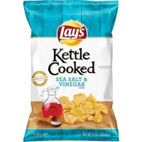 Lay's Kettle Cooked Chips Sea Salt & Vinegar 8oz Bag product image