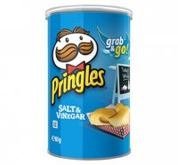 Pringles Potato Crisps Salt & Vinegar Grab & Go! Stack 2.5oz Can product image
