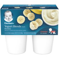 Gerber Yogurt Blends Banana 3.5oz 4CT PKG product image
