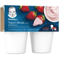 Gerber Yogurt Blends Strawberry 3.5oz 4CT PKG product image
