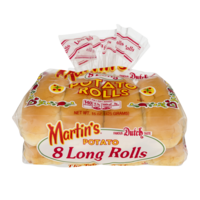 Martin's Potato Long Rolls 8CT 15oz PKG product image