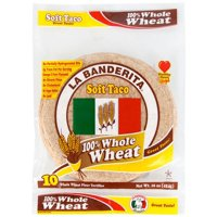 La Banderita Whole Wheat Tortillas Soft Taco Size 10CT 16oz product image
