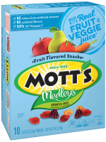 Mott's Medleys Assorted Fruit Flavored Snacks 10CT .8oz Pouches 8oz Box product image