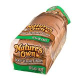 Nature's Own Sugar Free Whole Grain Wheat Bread 16oz. PKG product image
