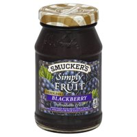 Smucker's Simply Fruit Seedless Blackberry Spreadable Fruit 10oz Jar product image