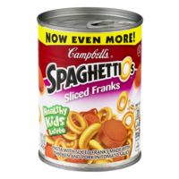 Campbell's SpaghettiO's with Sliced Franks 15.6oz Can product image