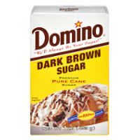Domino Pure Cane Dark Brown Sugar 1LB Box product image