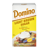Domino Pure Cane Light Brown Sugar 1LB Box product image