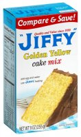 Jiffy Golden Yellow Cake Mix 9 oz product image