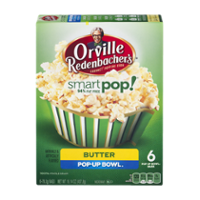 Orville Redenbacher's Microwave Popcorn Smart Pop 94% Fat Free Butter 6ct 16.14oz PKG product image