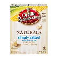 Orville Redenbacher's Popcorn Naturals Simply Salted 6CT 19.74oz PKG product image