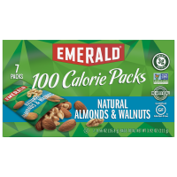 Emerald 100 Calorie Packs Natural Almonds & Walnuts 7Pack Box 3.92oz product image