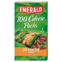 Emerald 100 Calorie Packs Dry Roasted Almonds 7Pack Box 4.41oz product image