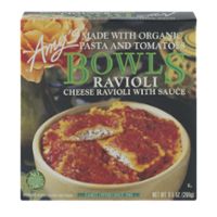 Amy's Bowls Cheese Ravioli with Organic Pasta and Tomatoes 9.5oz PKG product image