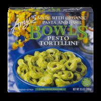 Amy's Bowls Pesto Tortellini with Organic Pasta and Basil 9.5oz PKG product image