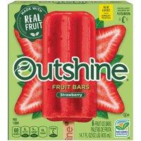 Nestle Frozen Outshine Fruit Bars Strawberry 6CT 2.75oz EA 16oz Box product image