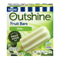 Nestle Frozen Outshine Fruit Bars Lime 6CT 2.75oz Bars 16oz Box product image