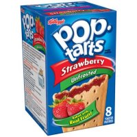Kellogg's Pop-Tarts Unfrosted Strawberry 8CT 14.7oz Box product image