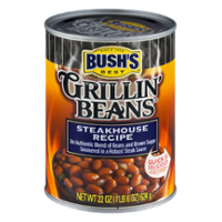 Bush's Grillin Beans Steakhouse Recipe 22oz Can product image