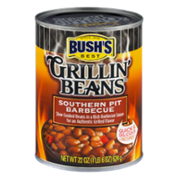 Bush's Grillin Beans Southern Pit Barbecue 22oz Can product image