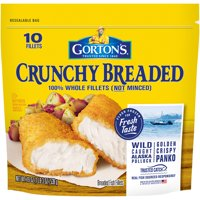 Gorton's Crunchy Breaded Whole Fish Fillets 10CT 19oz Bag product image