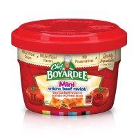 Chef Boyardee Microwave Mini Bites Micro Beef Ravioli 7.5oz Cup product image