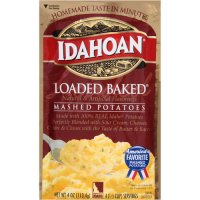 Idahoan Mashed Potatoes Loaded Baked 4oz PKG product image